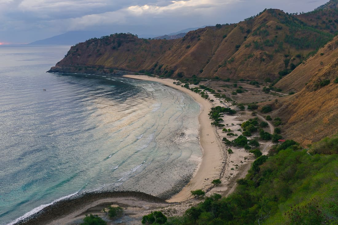 Sunrise at Dili beach by Christo Rei, East Timor