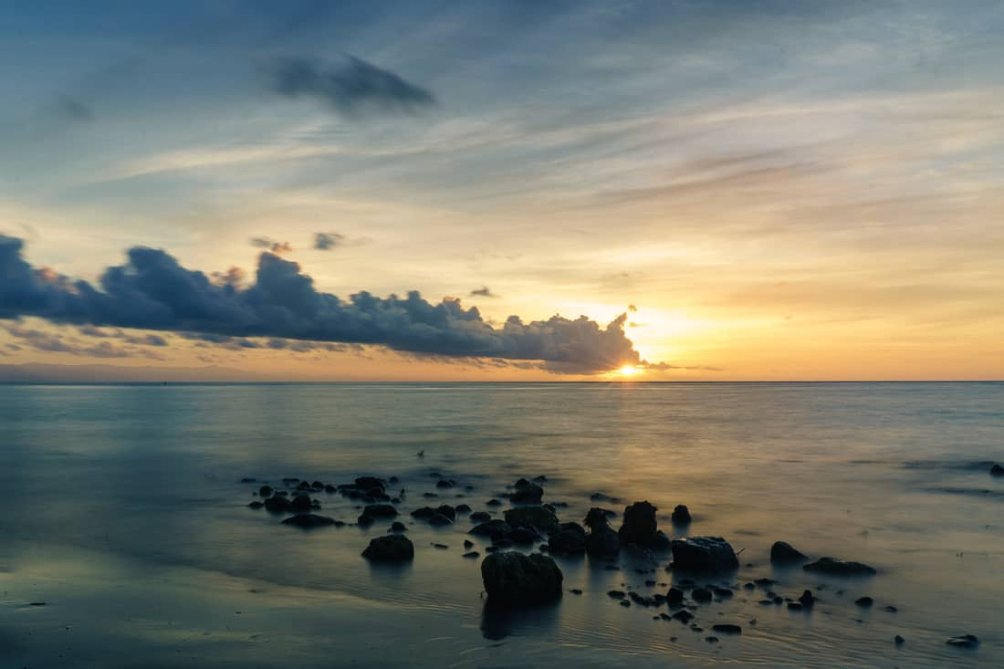Sunrise off Beloi beach, Atauro, East Timor