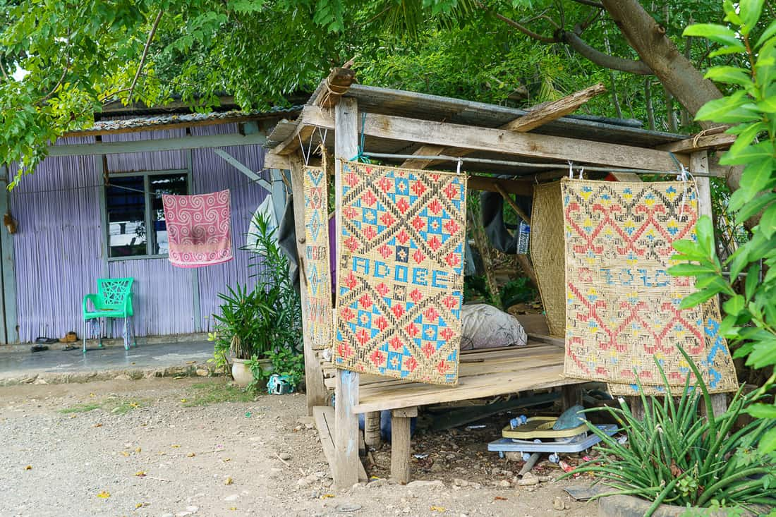 Woven mats at Suai, East Timor