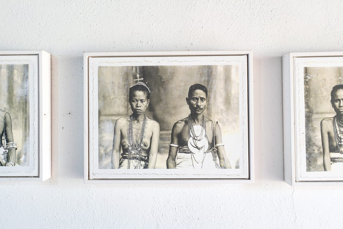 Photo of Timorese royal couple in Balibo Fort, East Timor