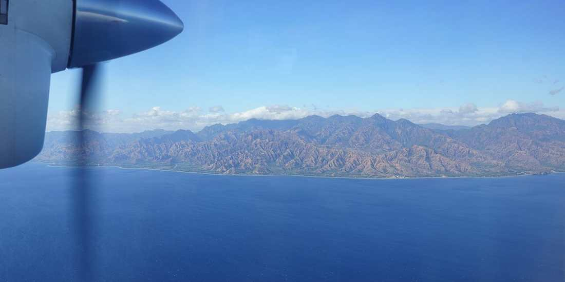 Flying from Dili to Oecusse along the East Timor coast