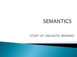 Five benefits of Semantics In Linguistics