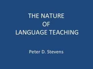 Study Nature of English Language Teaching
