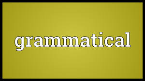 Facts You Must Know About Term Grammatical