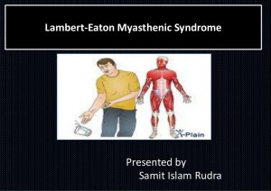 What Is Lambert Eaton;Diagnosis,Treatment And Clinical Manifestations