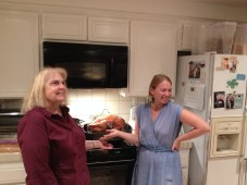 The Turkey with the cook and her lovely daughter. The cook looks a bit tired.