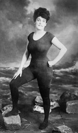 Annette Kellerman Swimsuit she designed was considered indecent