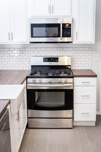 Microwave and Range Oven