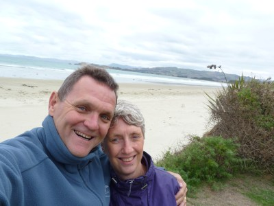 A Valentine's Day selfie - Waikouaiti Beach