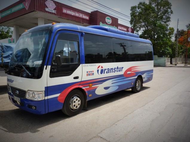 Moving through Cuba - bus