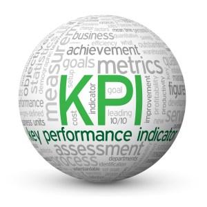 """KPI"" Tag Cloud Globe (key performance indicator data targets)"