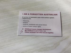 Forgotten Australians card