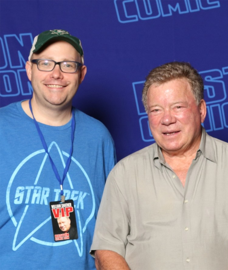 Hans Scharler and William Shatner at Boston Comic Con