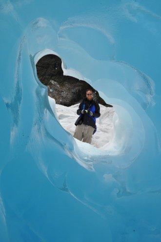 Fox Glacier ice tunnel
