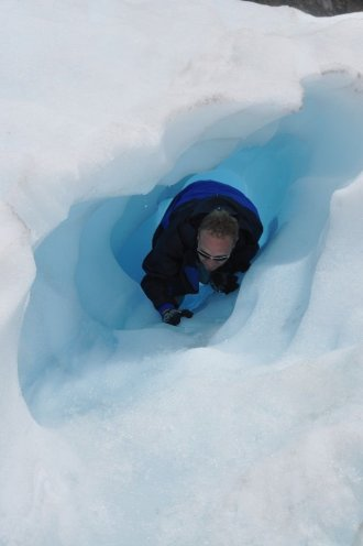 Bill in an ice tunnel