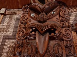 Carving in the Waitangi Treaty House
