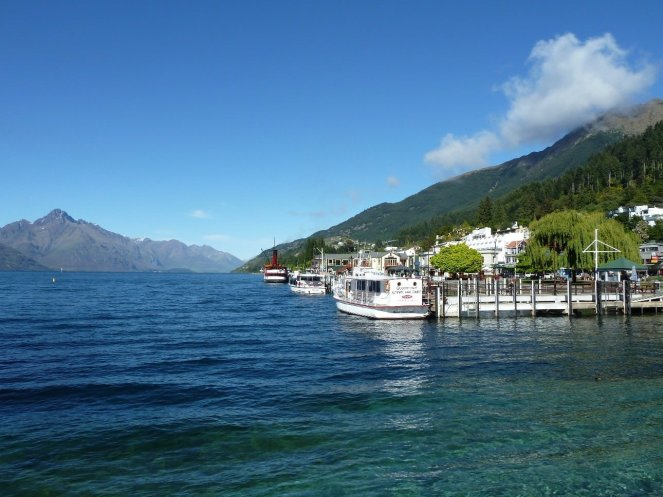 Down by the lake in Queenstown