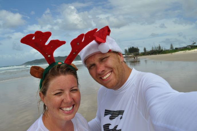 Bill & Eva Christmas Day, Byron Bay