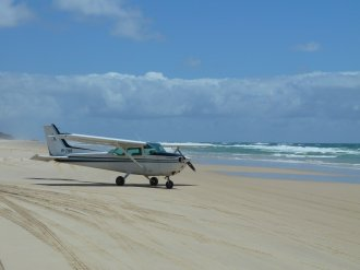 Our plane for a flight over 75 mile beach