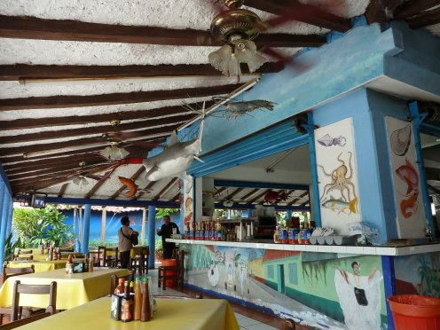 Crazy Mexican cafe where we took shelter out of the midday sun