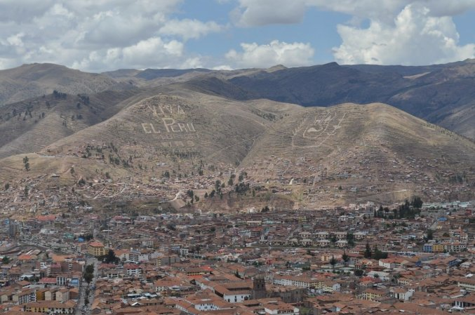 Cusco and the surrounding hillside