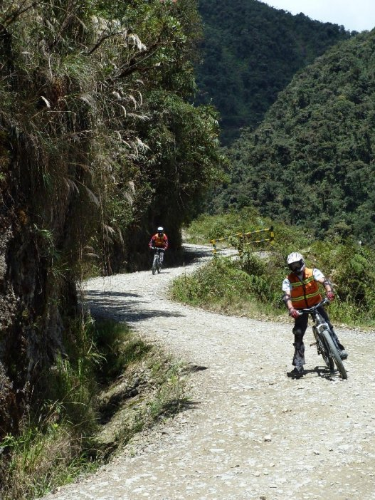 Death Road Bolivia twisting road