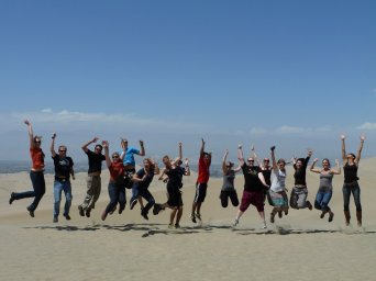 Group jumping picture