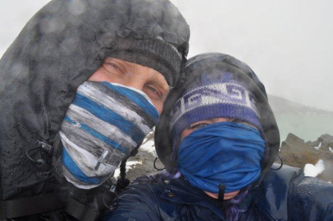 Bill & Eva on the Tongariro Alpine Crossing