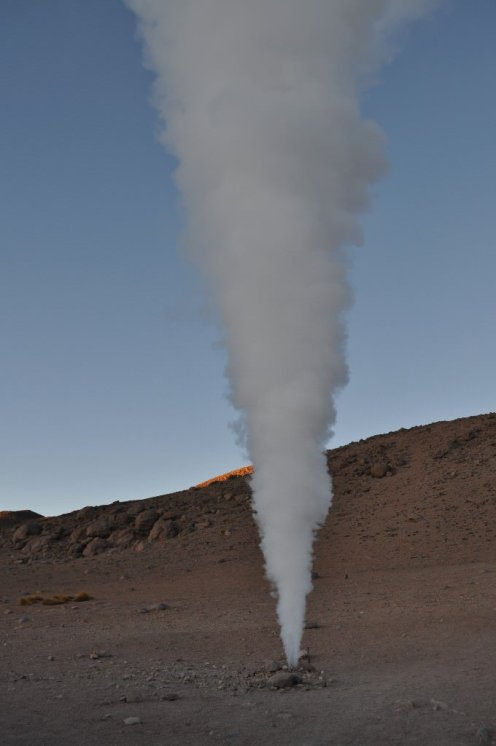 Bolivia, Volcanic activity from man made vent