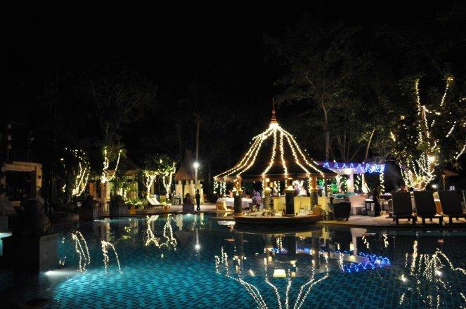 Crown Lanta Resort & Spa at night