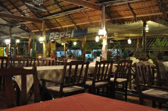 One of the local restaurants in Saladan