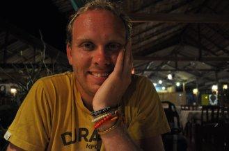 Bill relaxing in Saladan, Koh Lanta