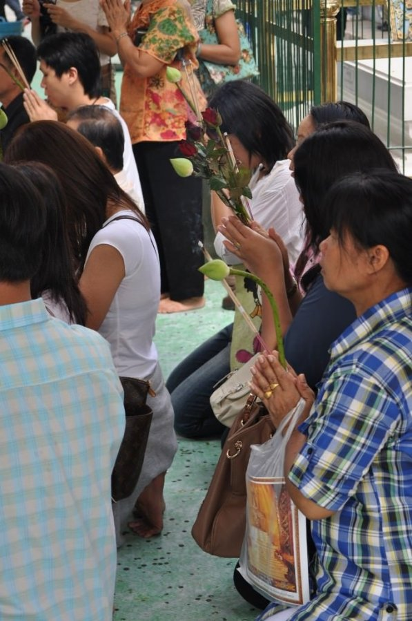 Worshippers at The Grand Palace