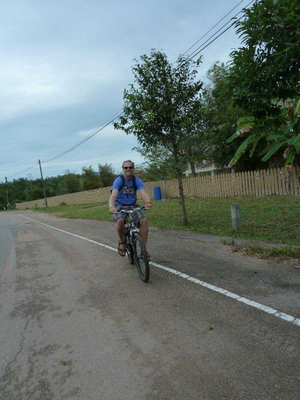 Bill on a bike