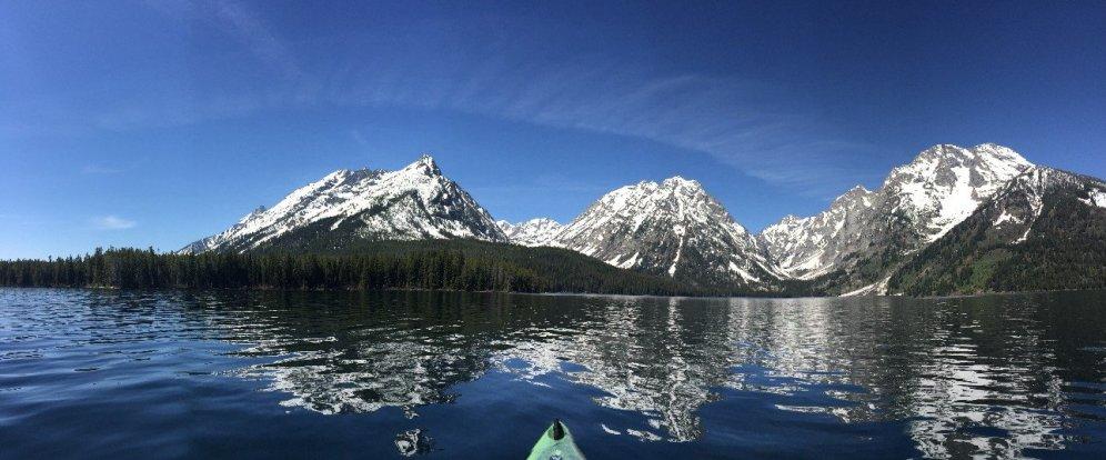 Kayaking on String Lake