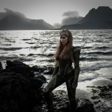 Amber Heard as Mera on Justice League