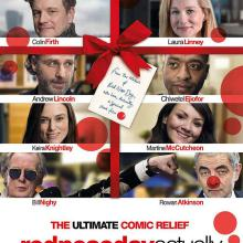 Love Actually NBC Red Nose Day poster