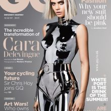 British GQ (August) Cara Delevngne cover