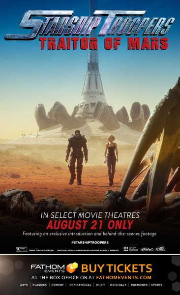 Starship Troopers: Traitor Of Mars poster (Fathom Events/Sony Pictures)