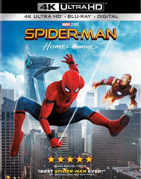 Spider-Man: Homecoming 4K Ultra HD/Blu-Ray/Digital HD (Sony Pictures Home Entertainment)