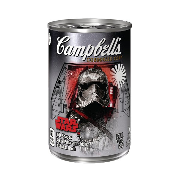 Campbell's Condensed Soup Star Wars Kids Shapes Captain Phasma label