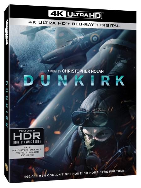 Dunkirk 4K Ultra HD/Blu-Ray/Digital HD cover (Warner Bros. Home Entertainment)