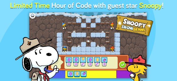 Snoopy's Snow Brawl (codeSpark)