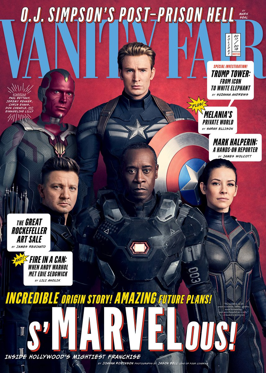 4 Avengers: Infinity War Vanity Fair Covers