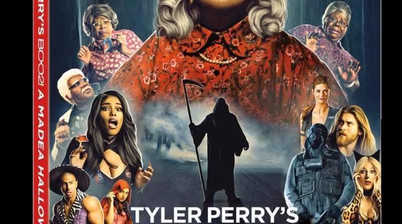 Tyler Perry's Boo 2! A Madea Halloween Blu-Ray Combo Cover (Lionsgagte Home Entertainment)