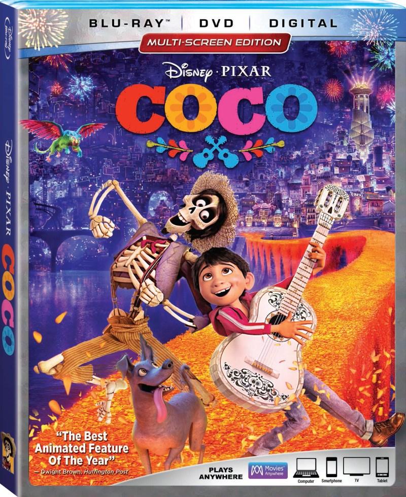 Coco Blu-Ray Combo cover (Walt Disney Studios Home Entertainment)