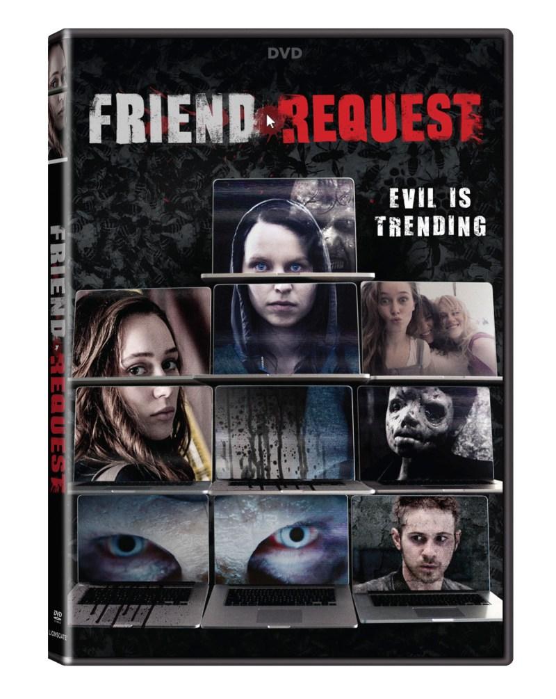 Friend Request DVD cover (Lionsgate Home Entertainment)