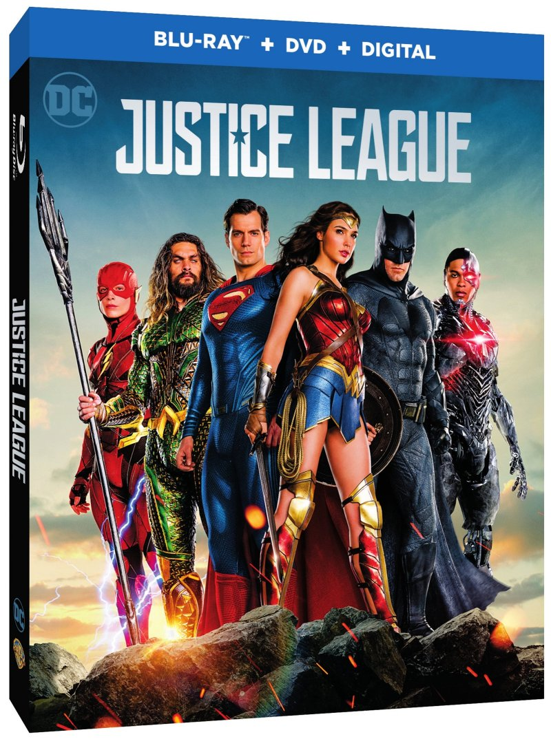 Justice League Blu-Ray Combo cover (Warner Bros. Home Entertainment)