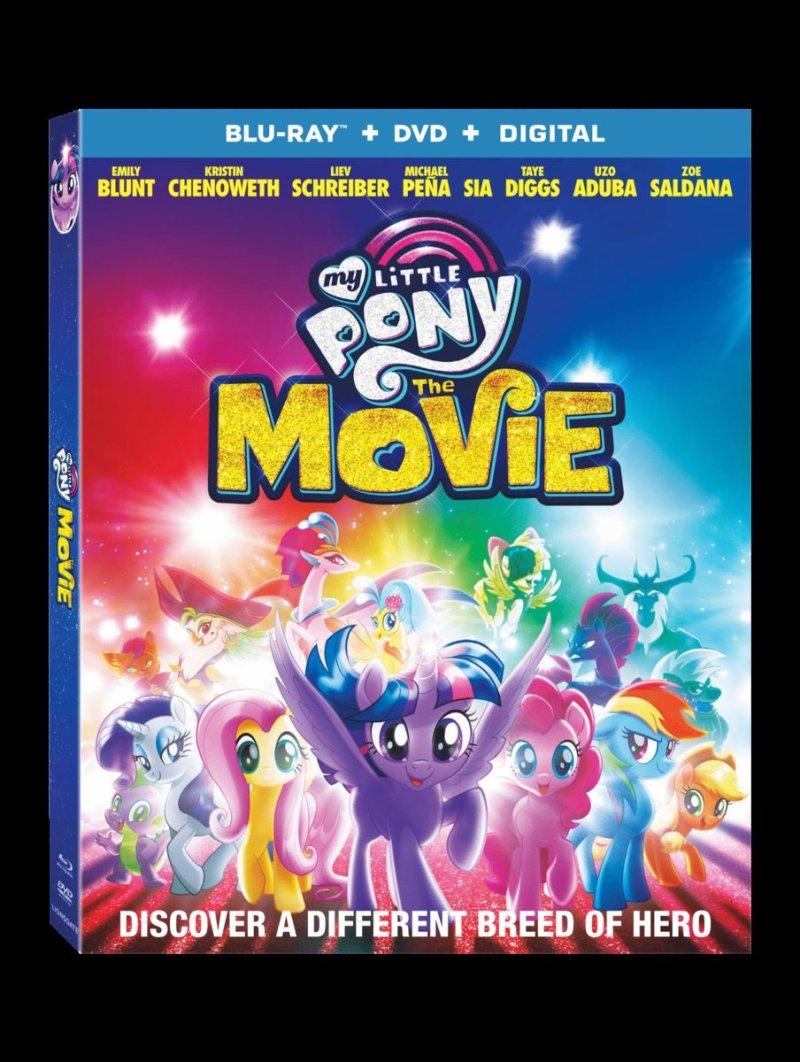 My Little Pony: The Movie Blu-Ray Combo Cover (Lionsgate Home Entertainment)