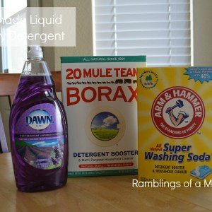Thrifty Thursday: Homemade Laundry Detergent